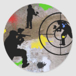 Guerrilla urbana Paintball Pegatinas Redondas