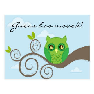 Guess hoo moved! Style 2 Postcard