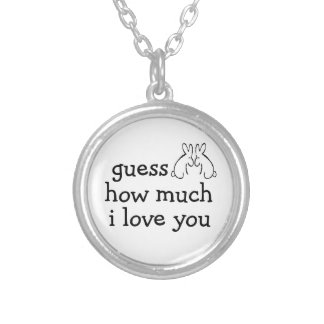 guess how much i love you rabbits necklace