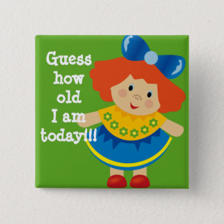 Guess How Old I am Ginger / Red Head Child Button