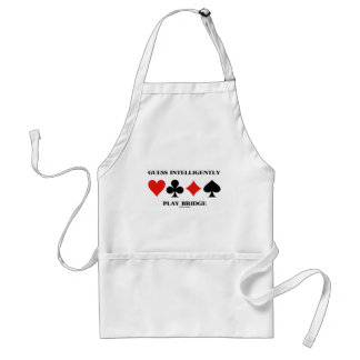Guess Intelligently Play Bridge (Four Card Suits) Adult Apron