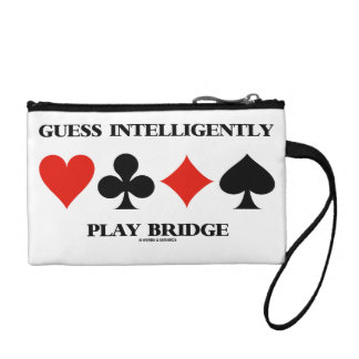 Guess Intelligently Play Bridge (Four Card Suits) Coin Wallet