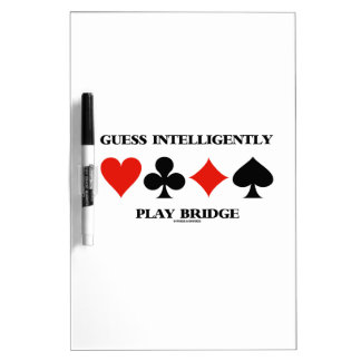 Guess Intelligently Play Bridge (Four Card Suits) Dry-Erase Whiteboard