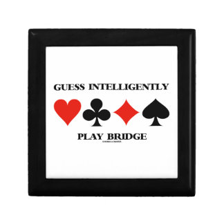 Guess Intelligently Play Bridge (Four Card Suits) Keepsake Boxes