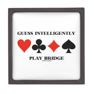 Guess Intelligently Play Bridge (Four Card Suits) Jewelry Box