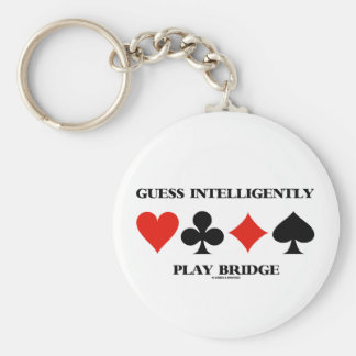 Guess Intelligently Play Bridge (Four Card Suits) Keychain