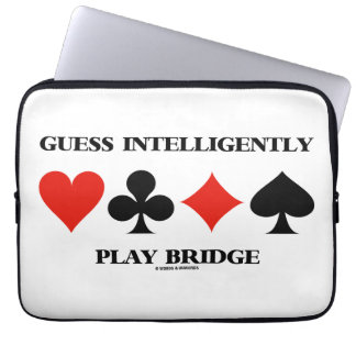 Guess Intelligently Play Bridge (Four Card Suits) Laptop Computer Sleeves