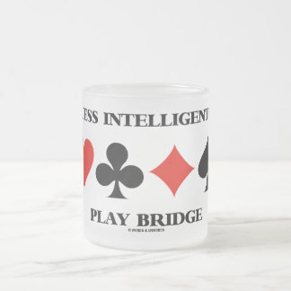 Guess Intelligently Play Bridge (Four Card Suits) Coffee Mugs