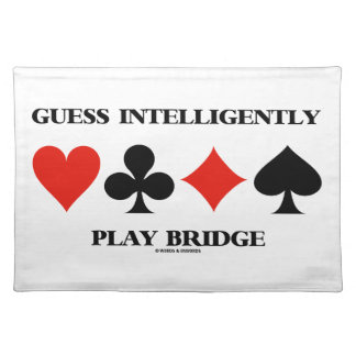 Guess Intelligently Play Bridge (Four Card Suits) Placemat