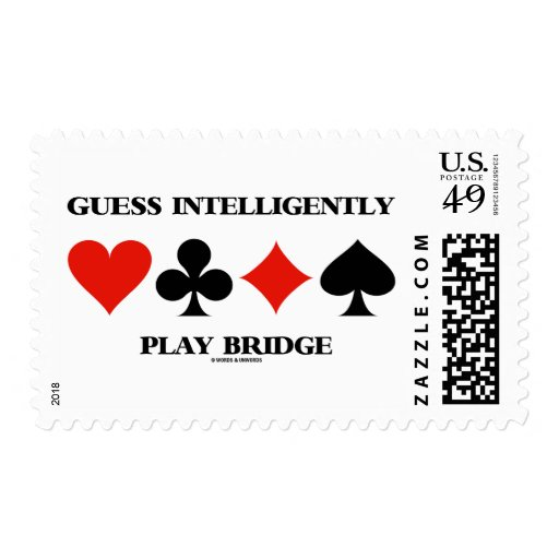 Guess Intelligently Play Bridge (Four Card Suits) Postage Stamp