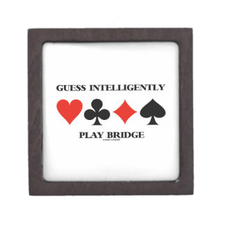 Guess Intelligently Play Bridge (Four Card Suits) Premium Trinket Box
