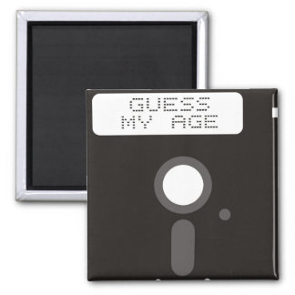 Guess my age. Funny old computer floppy disk Magnet