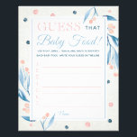 """Guess That Baby Food Game, Baby Shower, Blue, Pink Flyer<br><div class=""""desc"""">Hosting a baby shower? Add a game to the mix!</div>"""