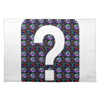 GUESS the GIFT question Symbol Art NVN543 ALL FUN Cloth Placemat