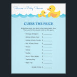 "Guess The Price Game Rubber Duck Baby Shower Letterhead<br><div class=""desc"">A super fun &quot;Guess The Price&quot; notes in cute rubber duck design. Great for baby shower!</div>"