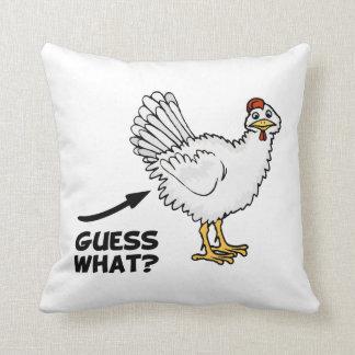Guess What Chicken Butt Throw Pillows