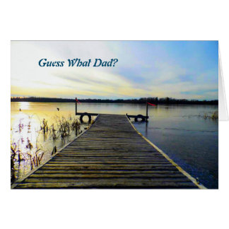 Guess What Dad? Note card