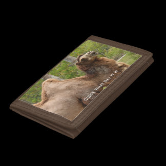 Guess What Day Camel Funny Quote Personalized Tri-fold Wallet