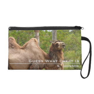Guess What Day Camel Funny Quote Personalized Wristlet Purse