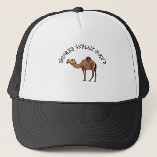 guess what day? camel hump trucker hat