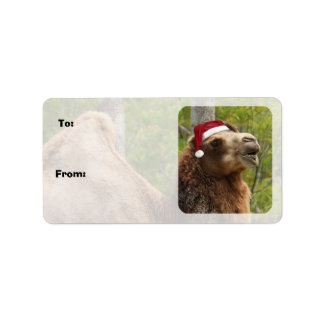 Guess What Day Christmas Camel Gift Tags Sheets