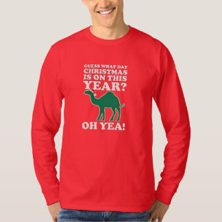 guess what day christmas is on this year american tee shirt