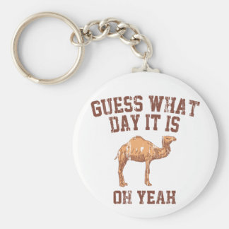 GUESS WHAT DAY IT IS? BASIC ROUND BUTTON KEYCHAIN
