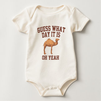 Guess What Day It Is. Camel Baby Bodysuit