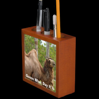 Guess What Day It Is Camel Funny Pencil Cup / Desk Organizer