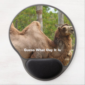 Guess What Day It Is Camel Funny Quote Gel Mouse Pad
