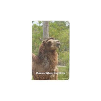 Guess What Day It Is Camel Funny Quote Pocket Moleskine Notebook