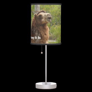 Guess What Day It Is Camel Funny Quote Table Lamp