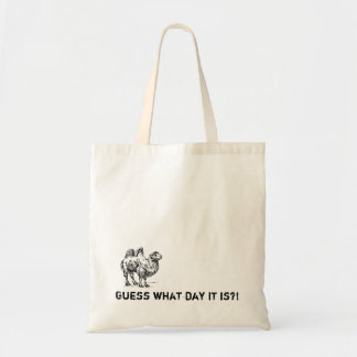 Guess what day it is?! Camel Hump Day Vintage Tote Canvas Bags
