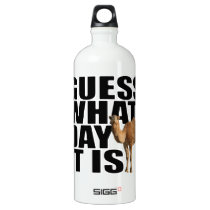 Guess What Day It Is Hump Day Camel Aluminum Water Bottle