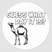 Guess What Day it Is? Hump Day Camel Classic Round Sticker