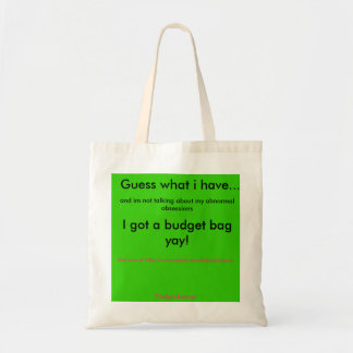 Guess what i have... a budget bag