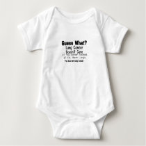 Guess What? Lung Cancer awareness Baby Bodysuit