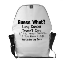 Guess What? Lung Cancer awareness Courier Bag