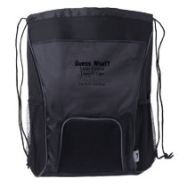 Guess What? Lung Cancer awareness Drawstring Backpack