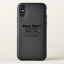 Guess What? Lung Cancer awareness Speck iPhone X Case