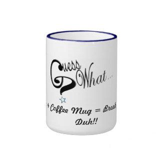 Guess What Ringer Mugs