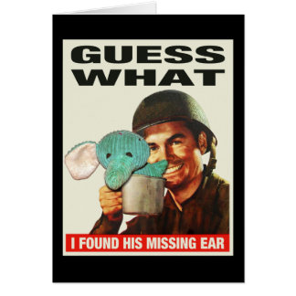 Guess What WWII Poster Notecards Card
