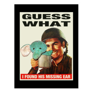 Guess What WWII Poster Postcard
