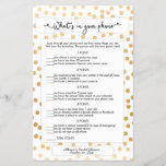 """Guess who   phone games, gold dot bridal 3983<br><div class=""""desc"""">This two-sided game sheet can be personalized by adding the bride&#39;s name and shower date.  Please check out our bridal shower game collection here: http://bit.ly/2vRr4GC</div>"""