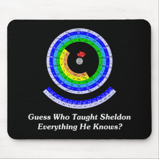 Guess Who Taught Sheldon Everything He Knows? Mouse Pad