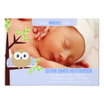 Guess WHOO's Here - Owl Baby Annoucement - Boy Personalized Announcement