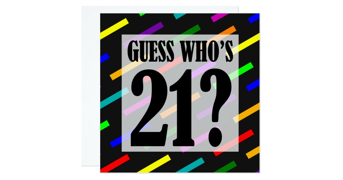 Guess Whos 21 Birthday Party Invitations – 21 Party Invitations