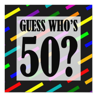 Guess Who's 50 Birthday Party Invitations