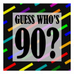 Guess Who's 90 Birthday Party Poster