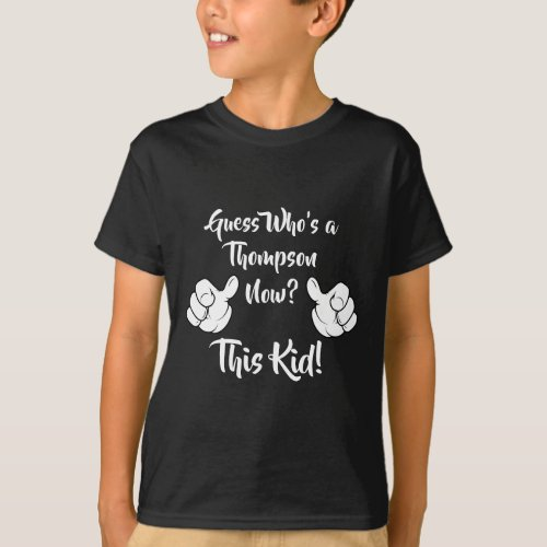 Guess Whos Adopted Now _ Custom Name Shirt